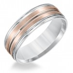 Goldman Two-Tone Mens Comfort-Fit Wedding Band 11-8577WR7-G.00