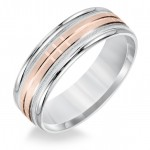 Goldman Two-Tone Mens Comfort-Fit Wedding Band 11-8578WR7-G.00