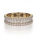 MICHAEL M 18k Yellow Gold Wedding Band R396B-18Y