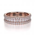 MICHAEL M 18k Rose Gold Wedding Band R396B-18R