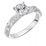 Artcarved 31-V100ERW-E.00 Vintage 14k White Gold Ladies  Engagement Ring