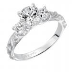 Artcarved 31-V101ERW-E.00 Vintage 14k White Gold Ladies  Engagement Ring