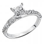 Artcarved 31-V104ECW-E.00 Vintage 14k White Gold Ladies  Engagement Ring