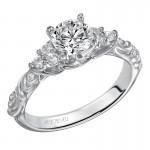 Artcarved 31-V105DRW-E.00 Vintage 14k White Gold Ladies  Engagement Ring