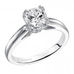 Artcarved 31-V120ERW Classic 14k White Gold Ladies  Engagement Ring