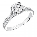 Artcarved 31-V153ERW-E.00 Contemporary 14k White Gold Ladies Solitude Engagement Ring