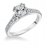 Artcarved 31-V166ERW Classic 14k White Gold Ladies  Engagement Ring
