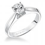 Artcarved 31-V179DRW Classic 14k White Gold Ladies  Engagement Ring