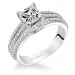 Artcarved 31-V210ECW Classic 14k White Gold Ladies  Engagement Ring