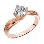 Artcarved 31-V303ERR-E.01 Solitaire 14k Rose Gold Ladies  Engagement Ring