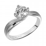 Artcarved 31-V303ERW-E.00 Solitaire 14k White Gold Ladies Whitney Engagement Ring