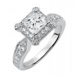 Artcarved 31-V359ECW-E.00 Halo 14k White Gold Ladies  Engagement Ring