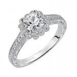 Artcarved 31-V435EUW-E.00 Halo 14k White Gold Ladies  Engagement Ring