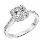 Artcarved 31-V458ERW-E.00 Halo 14k White Gold Ladies  Engagement Ring