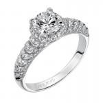 Artcarved 31-V470ERW-E.00 Halo 14k White Gold Ladies  Engagement Ring