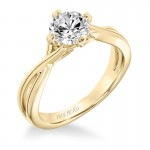 Artcarved 31-V677ERY-E.00 Solitaire 14kYellow Gold Ladies Kennedy Engagement Ring