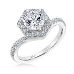 Karl Lagerfeld 31-KA176GVP-E.00  Platinum Ladies Pyramid Engagement Ring