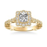 Artcarved 31-V824EUY-E Vintage 14k Yellow Gold Ladies Lilith Engagement Ring