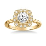Artcarved 31-V828ERY-E Vintage 14k Yellow Gold Ladies Mabel Engagement Ring