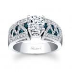 Barkevs Blue Diamond Ring 6620LBDW