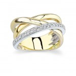 White and Yellow Gold Wedding Band 6950LTY