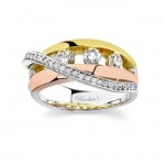 Barkevs Tri Color Diamond Band 6986LW
