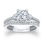 Three Stone White Gold Bridal Set 7539S
