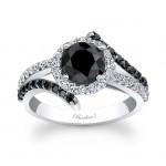 Barkevs Black Diamond Engagement Ring BC-7857LBKW