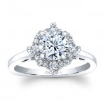 Barkevs Halo Engagement Ring 8026LW