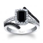 Barkevs Black Diamond Engagement Ring BC-8029LBKW