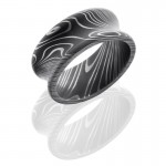 Lashbrook Damascus Steel 10mm Concave Band With Rounded Edges D10CR