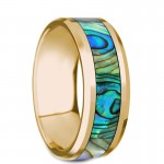 Thorsten NACRE Beveled Polished 14K Yellow Gold Ring G1279-YGSI