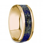 Thorsten LAZARUS Beveled Polished 14K Yellow Gold Wedding Band G1285-YGLL