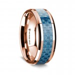 Thorsten 14k Rose Gold Polished Beveled Edges Wedding Ring G1638-BEBC