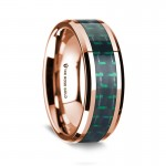 Thorsten 14k Rose Gold Polished Beveled Edges Wedding Ring G1643-BEBG