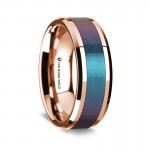 Thorsten 14k Rose Gold Polished Beveled Edges Wedding Ring G1645-BEBP