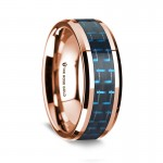 Thorsten 14k Rose Gold Polished Beveled Edges Wedding Ring  G1646-BEBB