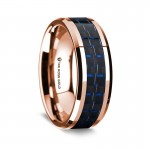 Thorsten 14k Rose Gold Polished Beveled Edges Wedding Ring  G1648-BEBB