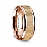 Thorsten 14K Rose Gold Polished Beveled Edges Wedding Ring G1652-BEAW