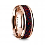 Thorsten 14K Rose Gold Polished Beveled Edges Wedding Ring G1674-BEOG