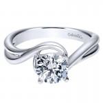 Gabriel & Co 14K White Gold Bypass Engagement Ring ER9178W4JJJ