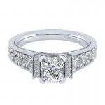 Gabriel & Co 14K White Gold Diamond Straight Engagement Ring ER9207W44JJ