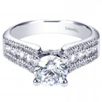 Gabriel & Co 14K White Gold Double Pave European Shank Diamond Engagement Ring ER3952W44Jj