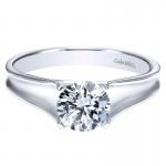 Gabriel & Co 14K White Gold Solitaire Engagement Ring ER9089W4JJJ