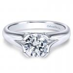 Gabriel & Co 14K White Gold Solitaire Engagement Ring ER9090W4JJJ