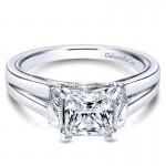 Gabriel & Co 14K White Gold Solitaire Engagement Ring ER9208W4JJJ