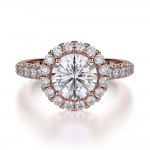 MICHAEL M 18k Rose Gold Engagement Ring R320-1-5-18R