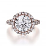 MICHAEL M 18k Rose Gold Engagement Ring R320L-3-18R