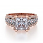 MICHAEL M 18k Rose Gold Engagement Ring R401-2-18R