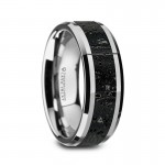 Thorsten KILAUEA Men's Polished Tungsten Wedding Band  W1491-TCLI